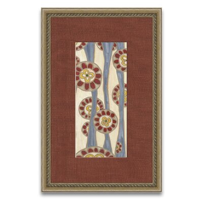 Patterns of Passion Flowing Flowers II Framed Graphic Art