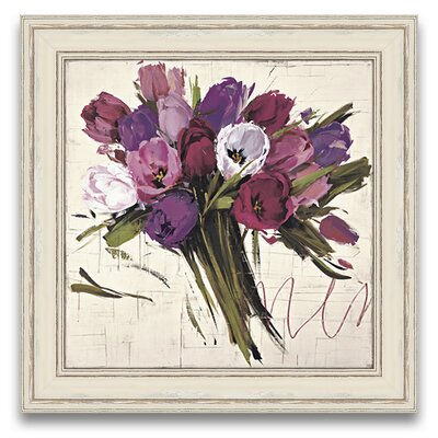 Elysian Fields Bouquet of Tulips Framed Graphic Art