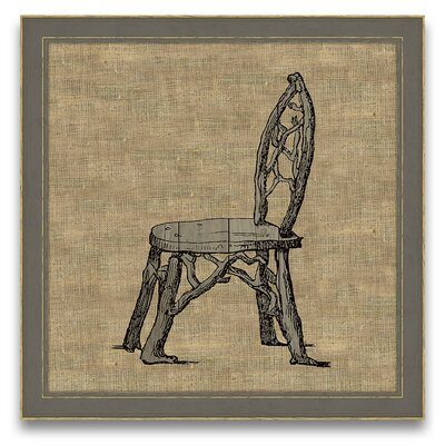 Epic Art Antique Elements Fois Bois Chair Wall Art