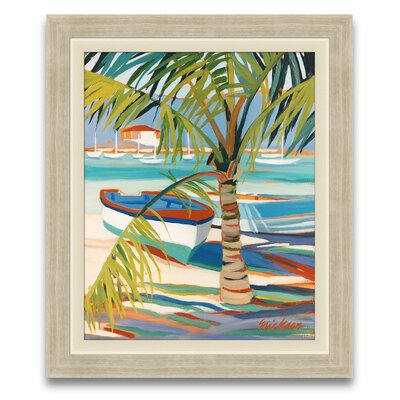 My Favorite Getaway Palm Patterns Framed Graphic Art