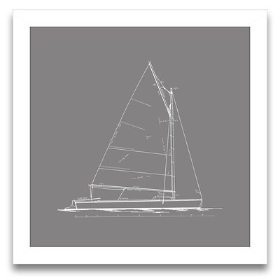 Sail Away Sailboat Blueprint III Wall Art