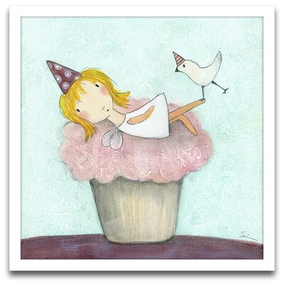 Epic Art Playroom Bliss Cupcake Fairy Framed Art