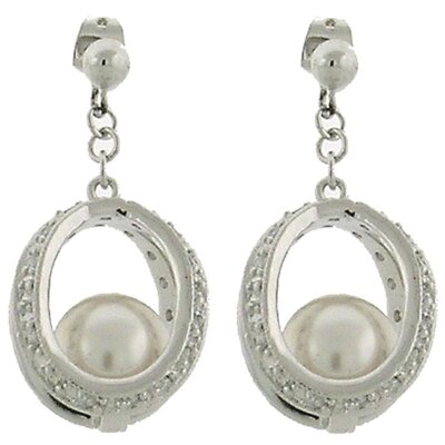 Bridal Faux Pearl Drop Earrings
