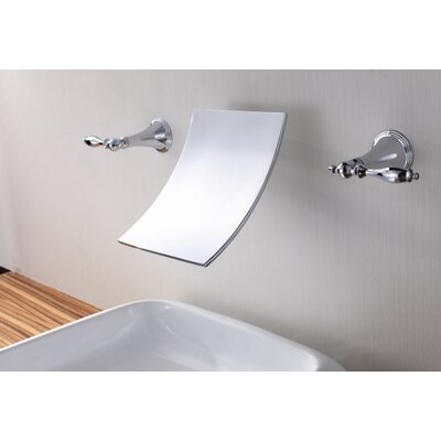 ... Allure Brilliant Double Handle Wall Mount Bathroom Faucet - 20347000