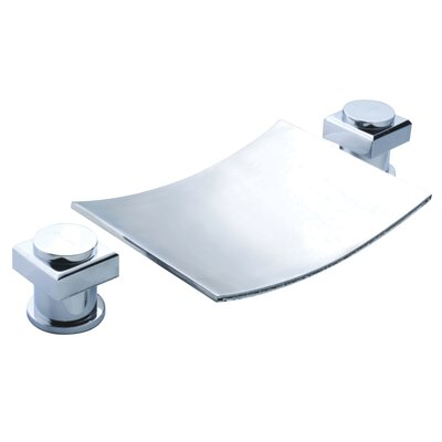 ... Double Handle Widespread Waterfall Bathroom Sink Faucet - S1204CW