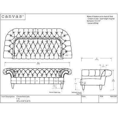 Canvas Home Chesterfield Sofa