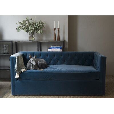 Canvas Home Mercer Tufted Devon Linen Loveseat Sofa
