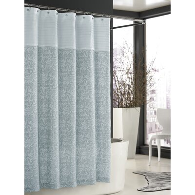Trump Home Bedminister Scroll Shower Curtain in Surf Spray