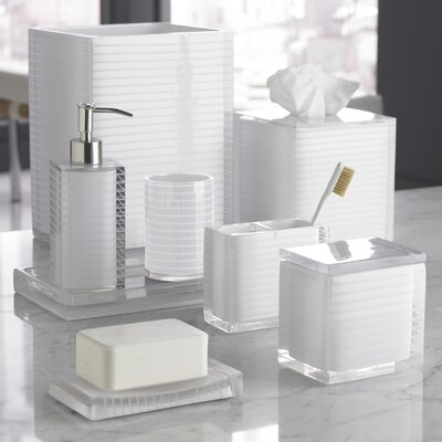 Trump Home Mar-A-Lago Stripe Bath Accessory Collection in White