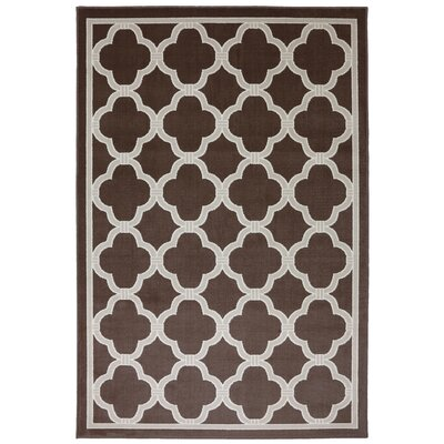 Panoramic Brown Geometric Parsonage Rug