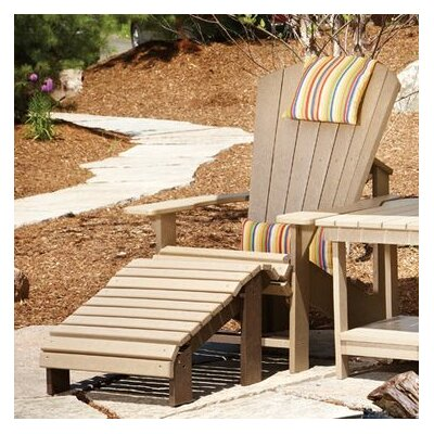 Generations Adirondack Chair and Ottoman with Cushions
