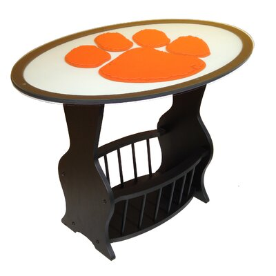 NCAA Glass End Table