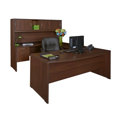 "Regency Double Pedestal ""U"" Executive Desk with Hutch"