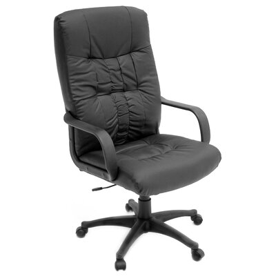 Regency Posh High-Back Leather with Nylon Base Swivel Office Chair