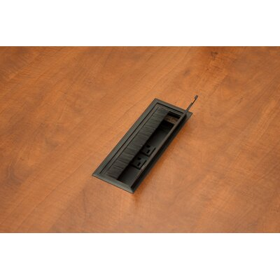 Regency Legacy Modular Mahogany Laminate Conference Table with Center Grommets