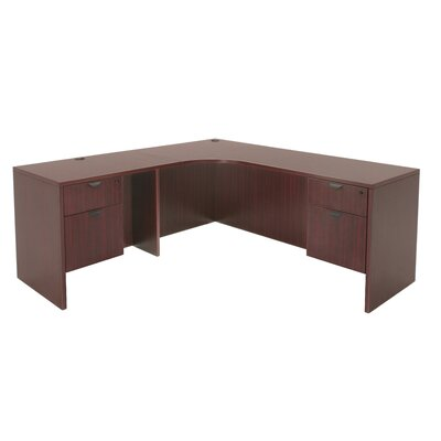 "Regency Legacy 71"" L Desk with Radious Corner - Left"