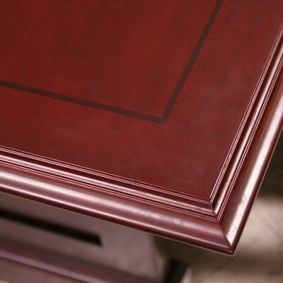 Regency Prestige Traditional Veneer Executive Double Pedestal L Desk