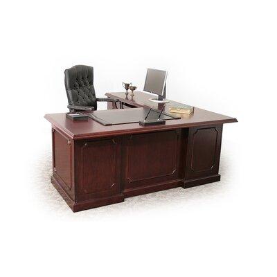"Regency Prestige Traditional Veneer Executive Double Pedestal ""L"" Desk"