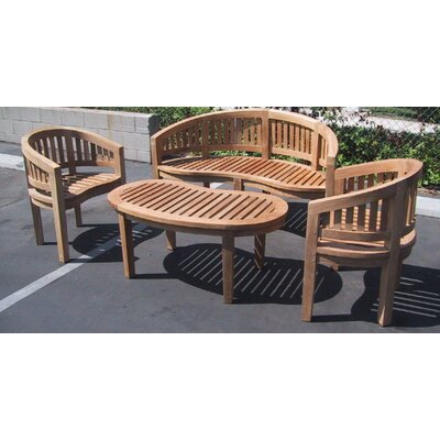 Teak Island 4 Piece Dining Set