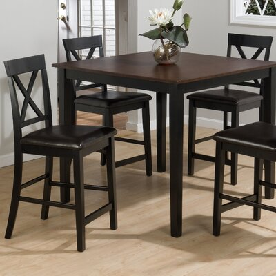jofran burly 5 piece counter height dining table set reviews