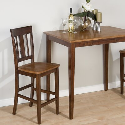 Jofran Triple Upright Counter Height Stool in Kura Espresso and Canyon Gold