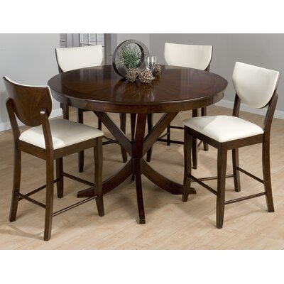 Jofran Satin 5 Piece Counter Height Dining Set