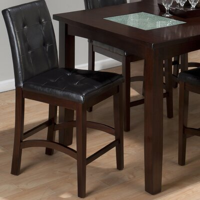 Chadwick Faux Leather Tufted Parson Counter Stool