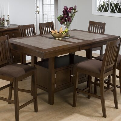 Jofran Caleb 7 Piece Counter Height Dining Set