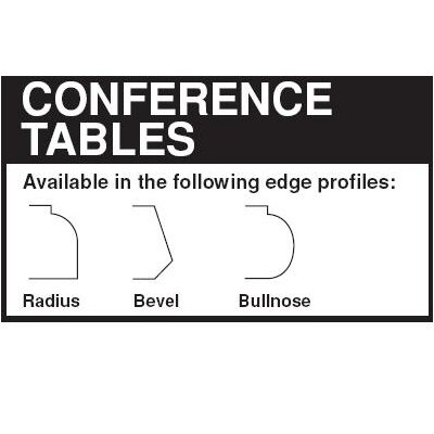 Lesro 69Contemporary Series Rectangular Conference Table (Trestle Base)