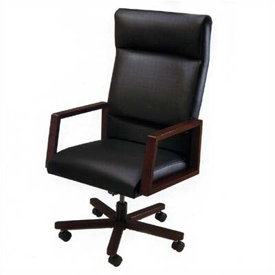 Lesro Bristol Series High-Back Office Chair with Arms