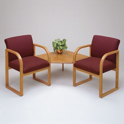 Lesro Contour Full Back Two Chairs with Corner Table