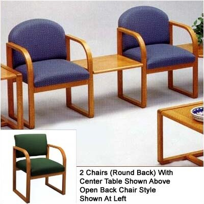 Lesro Contour Two Chairs with Open Back