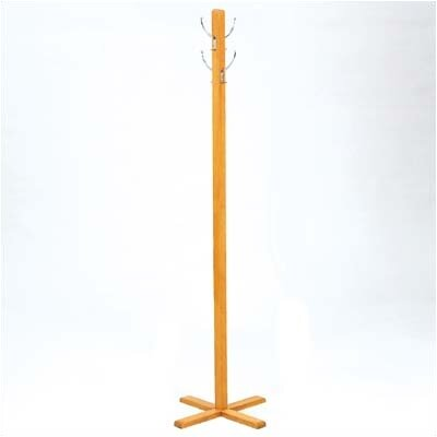 Transitional Series 4 Hook Coat Rack