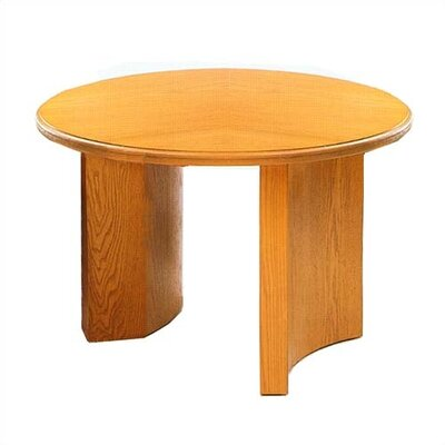"Lesro Contemporary Series 42"" Round Gathering Table with Radius Profile"
