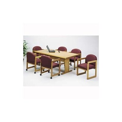 "Lesro Contemporary Series 96"" Rectangular Conference Table with Radius Profile (Trestle Base)"