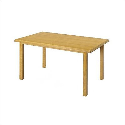 "Lesro Contemporary Series 48"" Rectangular Gathering Table with Radius Profile (4 Post Base w/ Casters)"