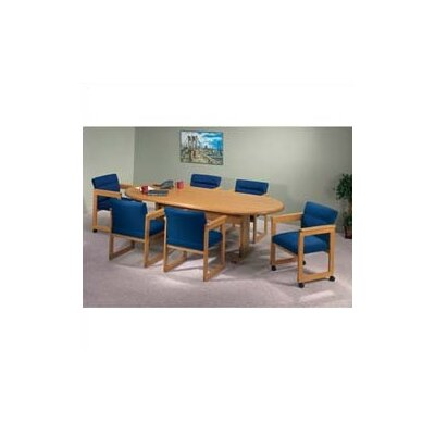 "Lesro Contemporary Series 120"" Oval Conference Table (Trestle Base)"