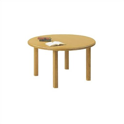 "Lesro Contemporary Series 48"" Round Gathering Table with Radius Profile (4 Post Base)"