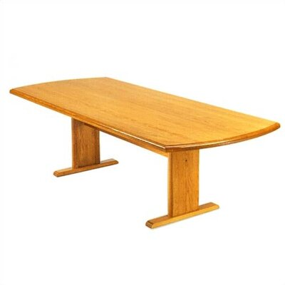 "Lesro Contemporary Series 72"" Curved End Gathering Table (Trestle Base)"