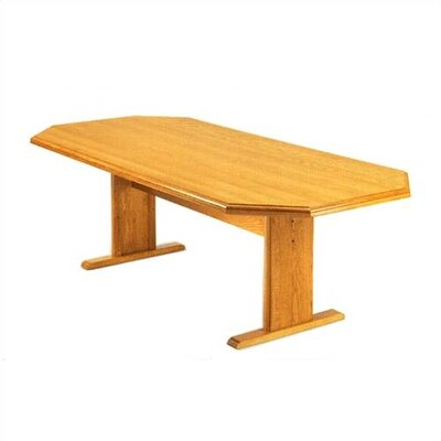 "Lesro Contemporary Series 96"" Octagonal Shaped Conference Table (Trestle Base)"