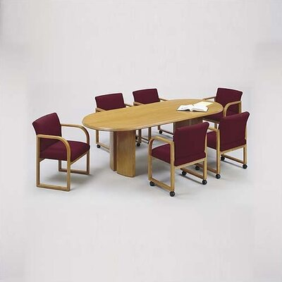 "Lesro Contemporary Series 120"" Oval Conference Table with Radius Profile (Split Curved Panel Base)"