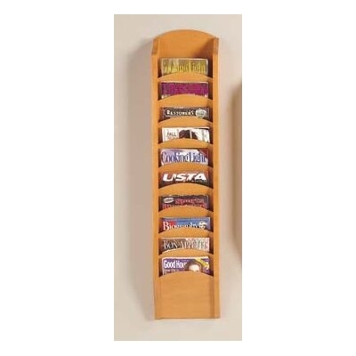 Lesro Transitional Series Pocket Magazine Rack