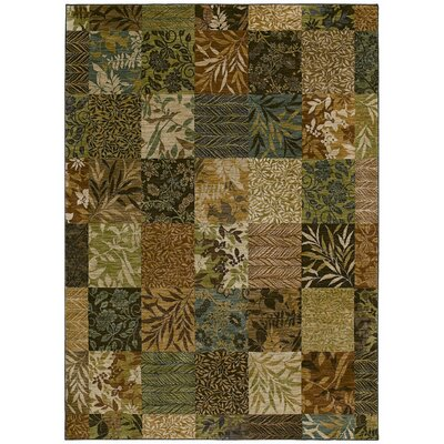 Home Nylon Light Multi-Colored Leaf Batik Rug