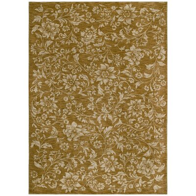 Tommy Bahama Rugs Home Nylon Gold Island Flower Rug
