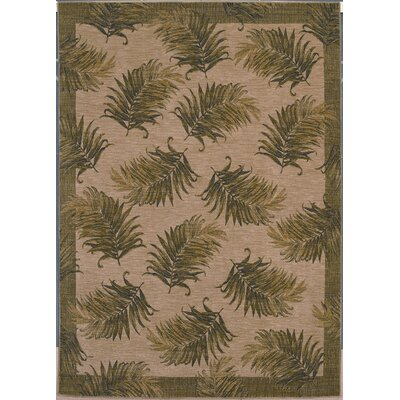 Tommy Bahama Rugs Home Nylon Tahitian Breeze White/Green Novelty Rug