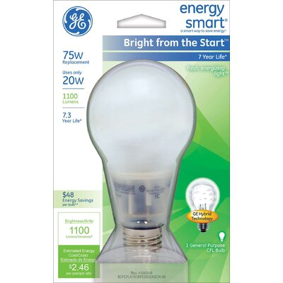 GE Lighting 20W Compact Fluorescent Light Bulb
