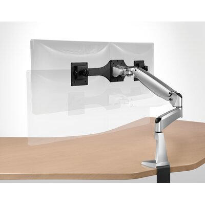 Workrite Ergonomics Ergonomics Poise Twin Monitor Arm with C-Clamp and Grommet Mount