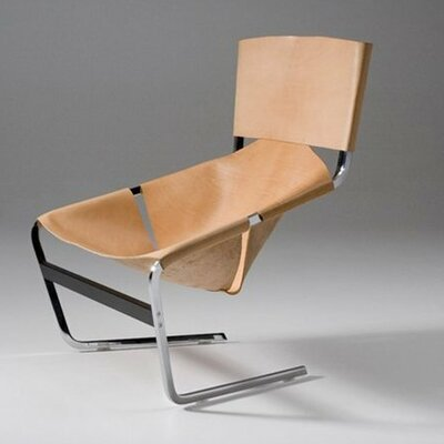 Leather Side Chair by Pierre Paulin