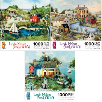 Ceaco Inc 1000 Piece Linda Nelson Stocks Puzzle