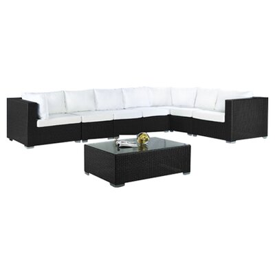 Beliani Grande 8 Piece Lounge Seating Group with Cushion